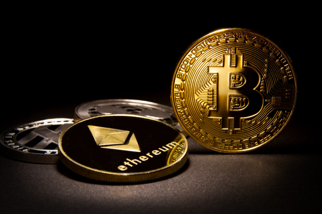 Bitcoin gold coin is right next to Ethereum gold coin and few other silver coins.
